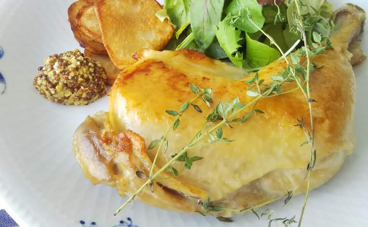 【9/25(水)12:00~ 日程追加しました】フランス南西地方の地方料理 鶏もも肉のコンフィとトマトのポタージュ、あんずタルトをご紹介