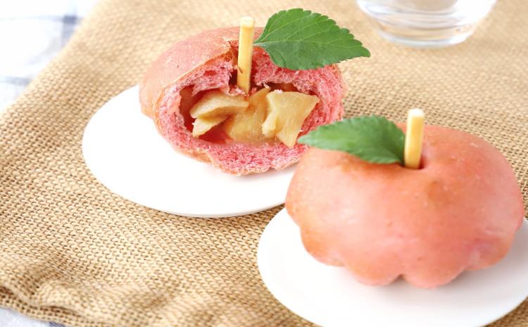 りんごのゴロゴロぱんと本格出汁巻き!ミニバーガー