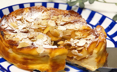 ナチュラルスイーツレッスン☆カラメルりんごチーズケーキ(15cmホールお持ち帰り付き)