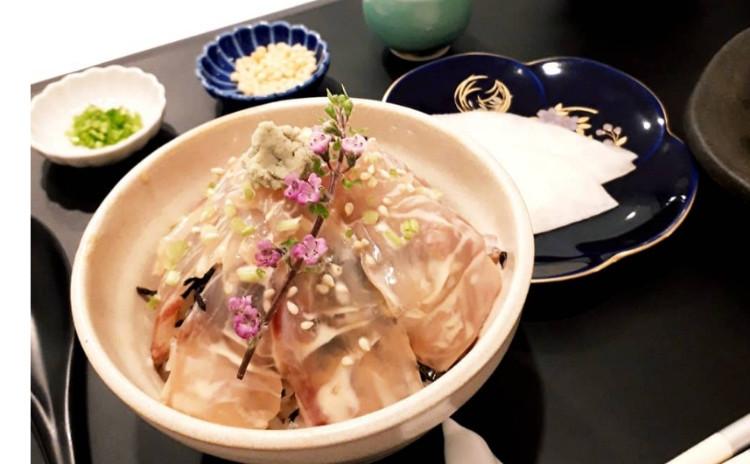 Aco´s signature menu ‼️【逸品和食】①絶品胡麻だれ鯛茶漬、②大根の梅肉和え