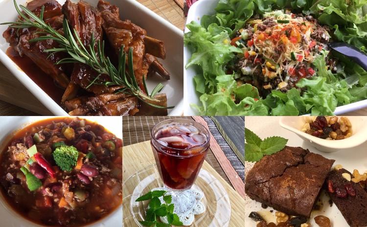 コラボ「オーガニック食品の選び方」セミナーお土産付&スペアリブデーツソース♪キドニーたっぷりチリコンカン♪タコライス♪ショコラテリーヌ♡