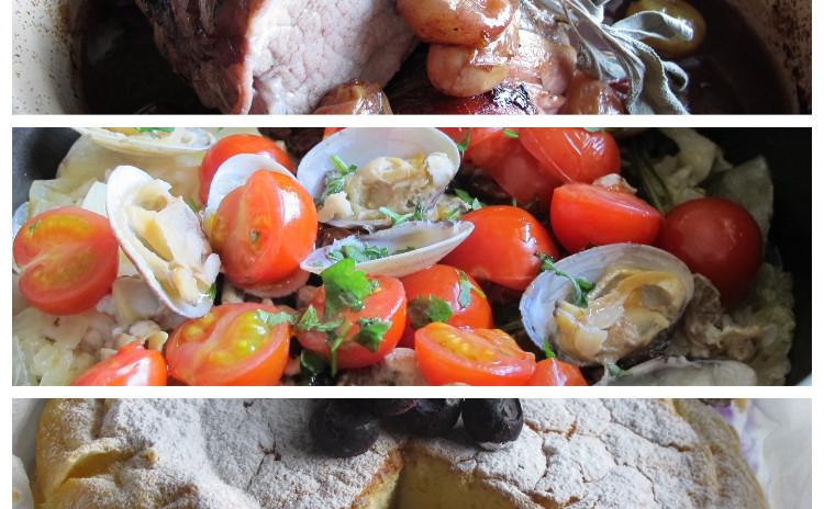テイエッラ、豚ヒレ肉のオーブン焼きブドウソース、トルタマジカ