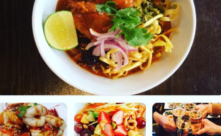 お家でレストラン。タイ北部のカレーラーメン「カオソーイ」&ブラックタイガーのタマリンドソース&スパイシー果物サラダ