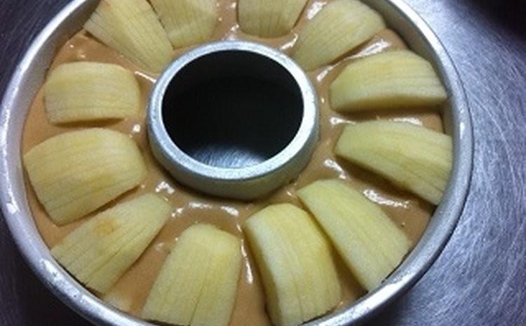 「アップルケイク」りんごのぽこぽこケーキ(17㎝丸マンケ型又は18㎝丸エンゼル型1台)