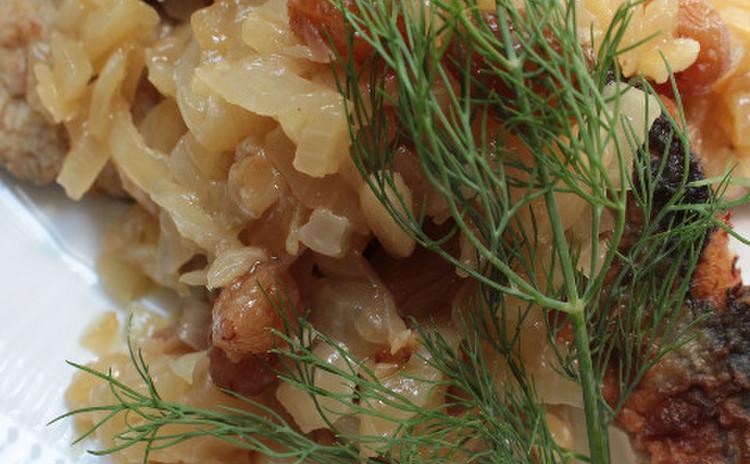 玄米塩麹漬けサンマの甘酢マリネ ディル風味