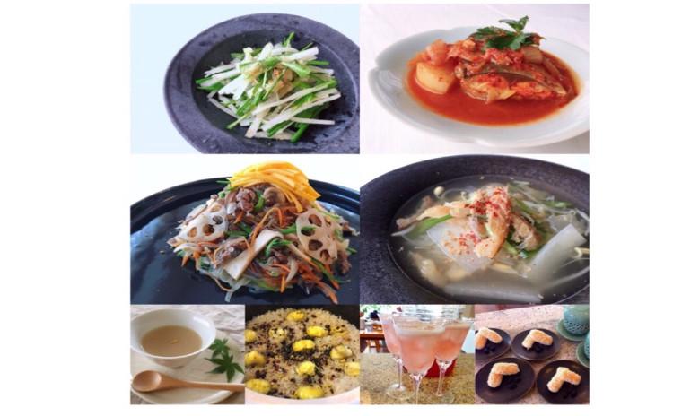 秋の韓国家庭料理