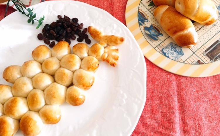 ホシノ酵母で作る葡萄の形の葡萄パン&レーズンロールパン