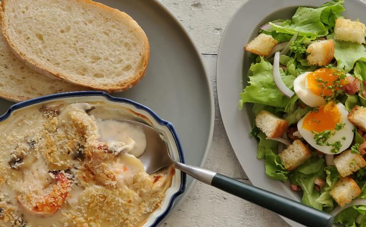 「ケ」の日のごはん ~グラタン/サラダ/スープ