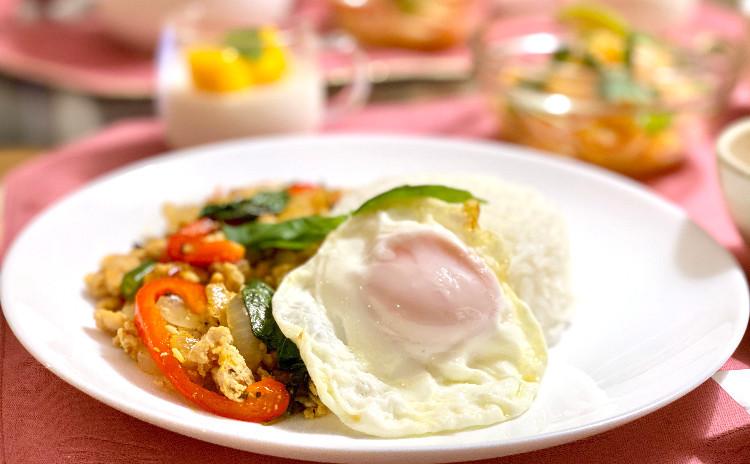 【お家タイ料理】ガパオライス 、マッサマンカレー他※マッサマンカレーペーストのお土産付き