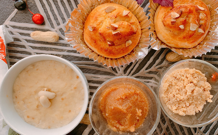 《  ピーナッツバター作り& ピーナッツ豆腐2個 & ピーナッツパン試食付き  》