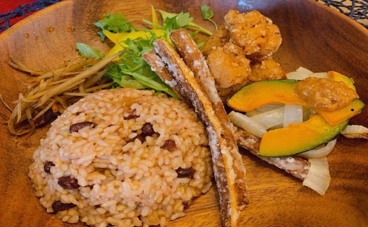 ランチプレートと玄米のお土産付き〜玄米と味噌汁のお話会