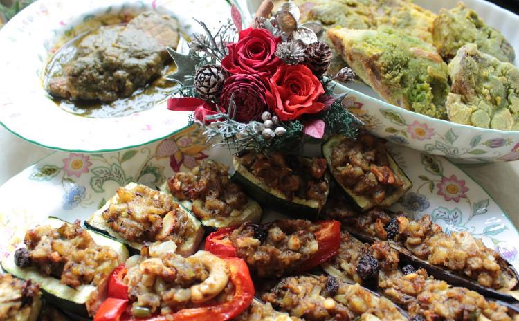 Xmasや新年会にスパイステイストはいかが?パクチー風味のお魚フライやお野菜のファルシ・ほうれん草のポークカリー