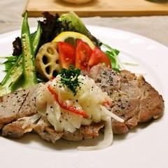 550kcalメニュー☆軟らかく仕上げる豚肉のソテー&減塩でむくみ対策