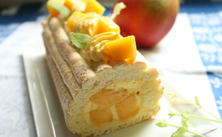 南国の果実「アップルマンゴー」で夏色ロールケーキを作りましょう!!