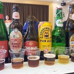 空席でました【ビアレッスン】世界のビール基礎知識☆8種を飲み比べで学ぶ