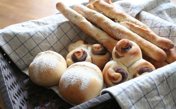 ノンオイルノンエッグなのにふわもちっ!白神こだま酵母de三種類のパン