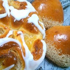 秋の香り~ アップルロール&洋風マロンあんパン