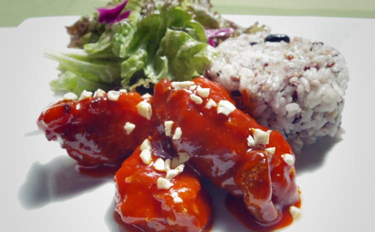 【お土産付】韓国ピリ辛から揚げと手作り万能調味料でポカポカメニュー♪