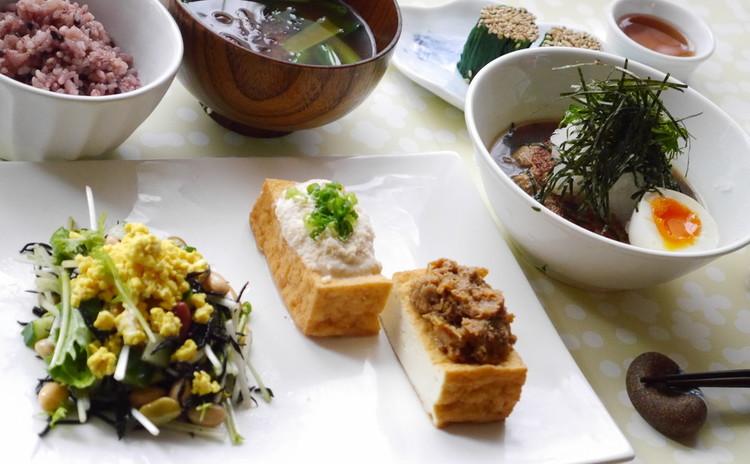 豆腐&大豆たっぷり♡雑穀ごはんとヘルシー和風煮込みハンバーグ他家庭料理