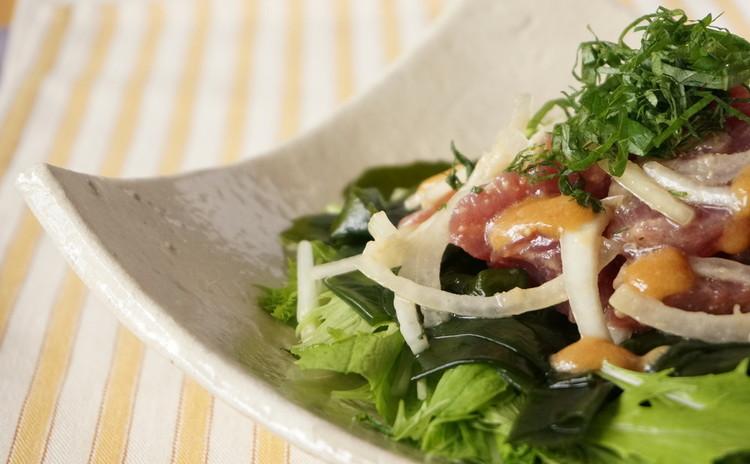 戻りカツオの季節です!鰹の味噌和風サラダ仕立て&京都のプチおばんざい