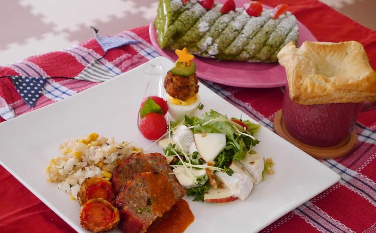3種のお肉で作るスイスロールやポットパイなど7品でカフェ風クリスマス!