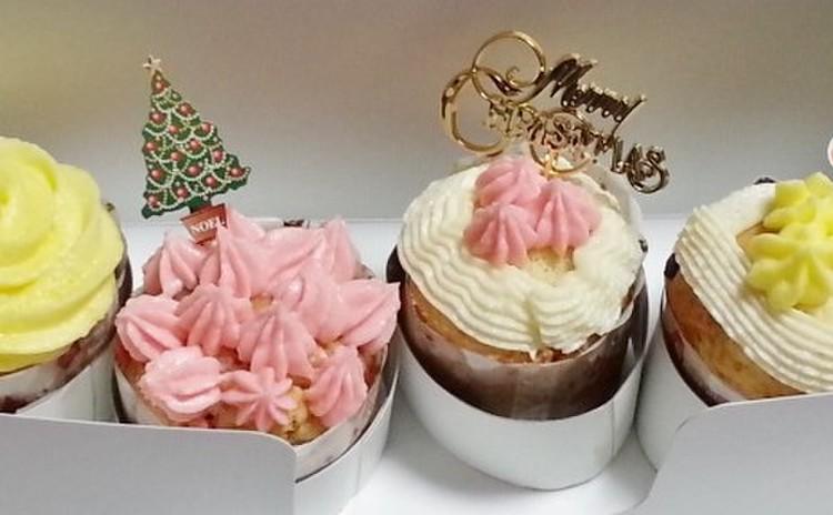 パーティーに!手土産に!可愛いクリスマスのカップケーキ