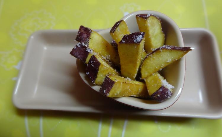 甘いさつま芋と蓮根チップ