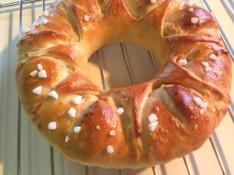 料理レッスン写真 - ケーキみたいに可愛い、手作りアーモンドクリーム入ったリングパン♡