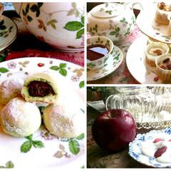 オリジナルスノーボールクッキー、ケーキ、コンポートと紅茶の入れ方教室
