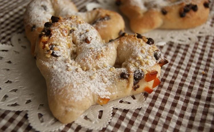 ~チョコとオレンジピールのハートパン~