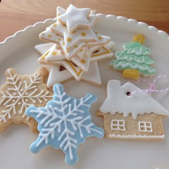 クリスマス初級用基本 アイシングクッキー&パスタメニュープチレッスン