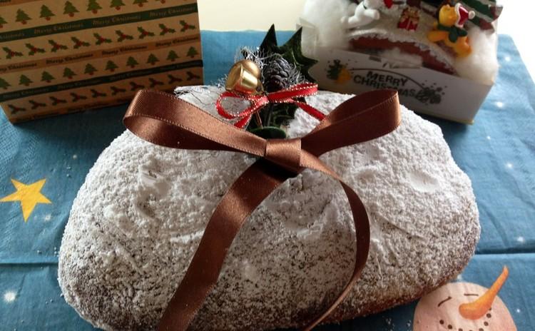 ドライフルーツがたっぷり入った☆クリスマスの菓子パン☆シュトーレン