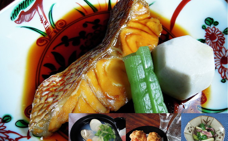※平日夜のレッスンです。日本酒の正しい使い方!料理人の魚の煮付他。