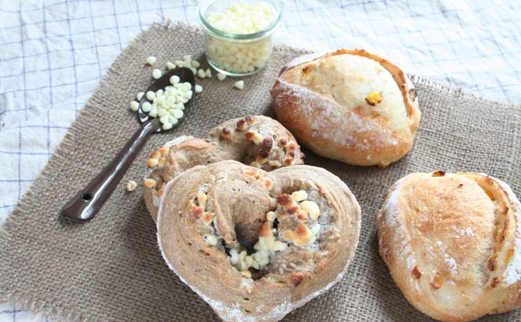 自家製酵母パン!珈琲香るホワイトチョコの♡パン&香ばしいコーンクッペ
