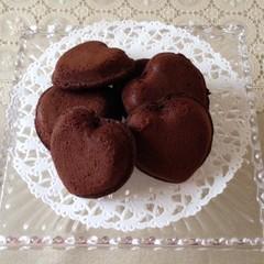 バレンタイン準備❤ハートのガトーショコラ&チョコバナナクレープ