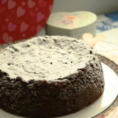 ガトーショコラクラシックでバレンタイン♡チョコケーキ第一弾:15cm丸