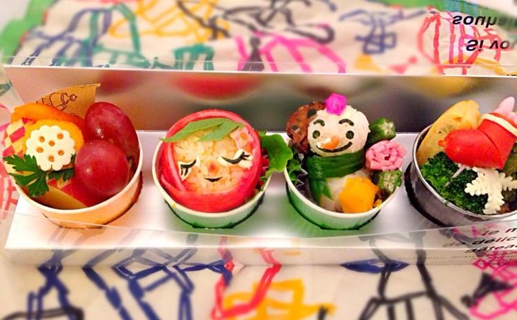 赤ずきんちゃんと雪ダルマキャラ弁・おかずのデモンストレーション試食付き