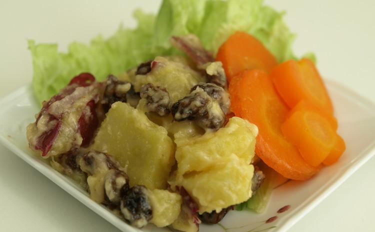 ほっくりさつま芋とレーズンのサラダ(デモ)