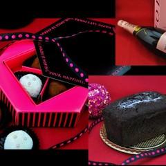 日程追加♪ シャンパントリュフとミッドナイトチョコケーキ