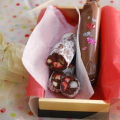 バレンタインにゆずのチョコレートケーキ&いちごのソーセージチョコ!!