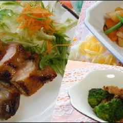 冬野菜を堪能☆柚子風味チキンソテー&大根のハイカラ煮&ブロッコリ炒め