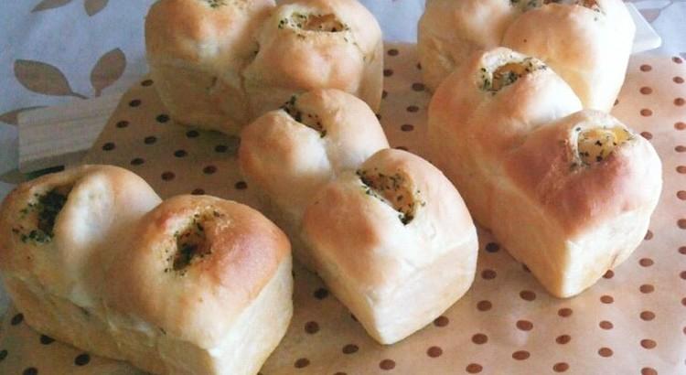 コンソメポテトのバジルバター ミニ食パン型5個