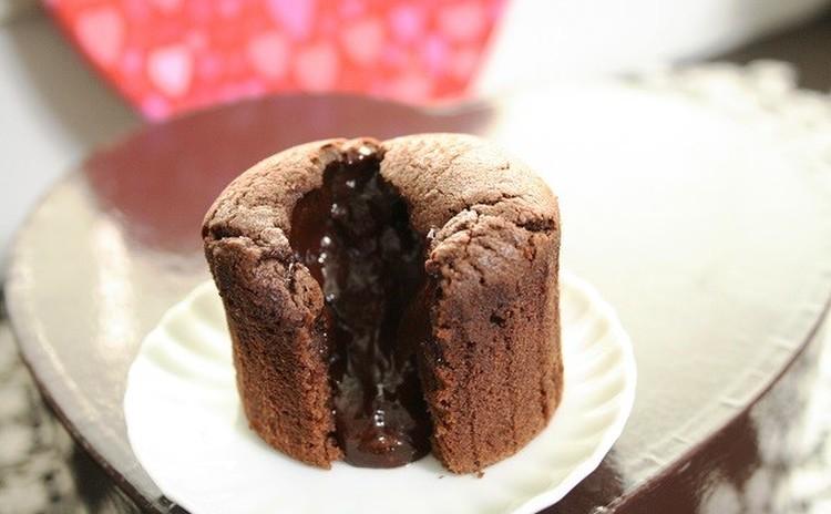 フォンダンショコラ♡中からとろりとガナッシュが流れ出すチョコケーキ5個