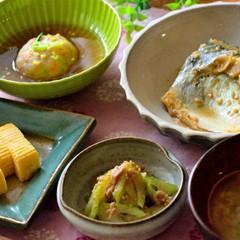 お魚メインの和食献立*鯖の味噌煮と蓮根まんじゅう&出汁巻きで一汁三菜♪