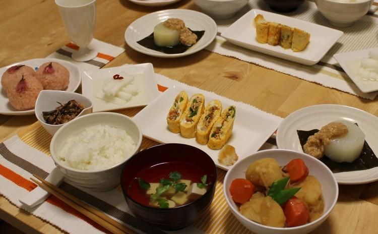 料理の基本レッスン【だし・米のとぎ方】肉じゃが・大根1本使い切り・桜餅
