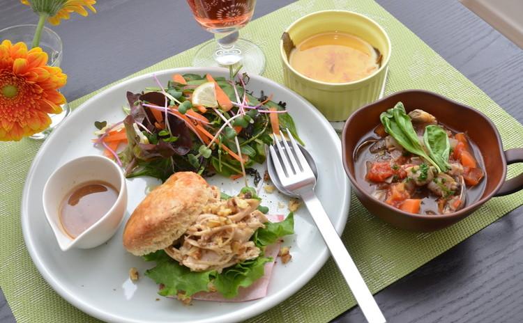 【日程追加】ホットビスケットでチキンサラダをサンド☆野菜たっぷり