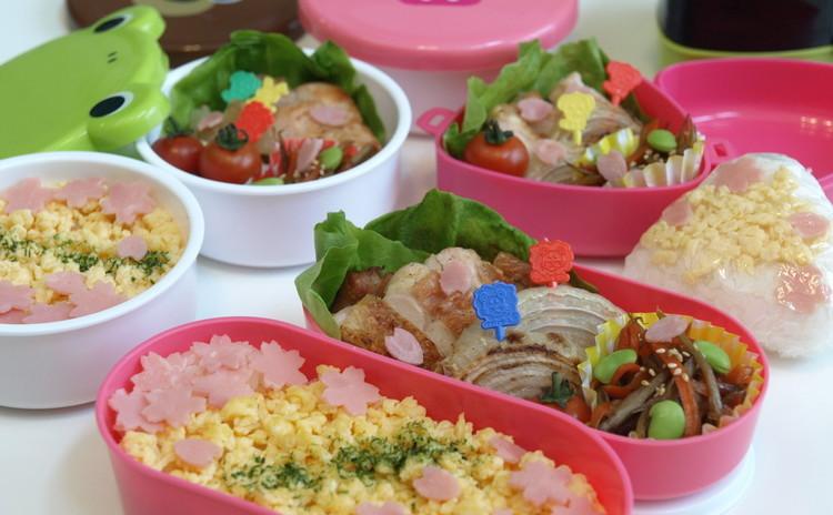 初心者向♪お弁当箱付!桜舞う彩り弁当のコツ+ランチ【子連れOK】