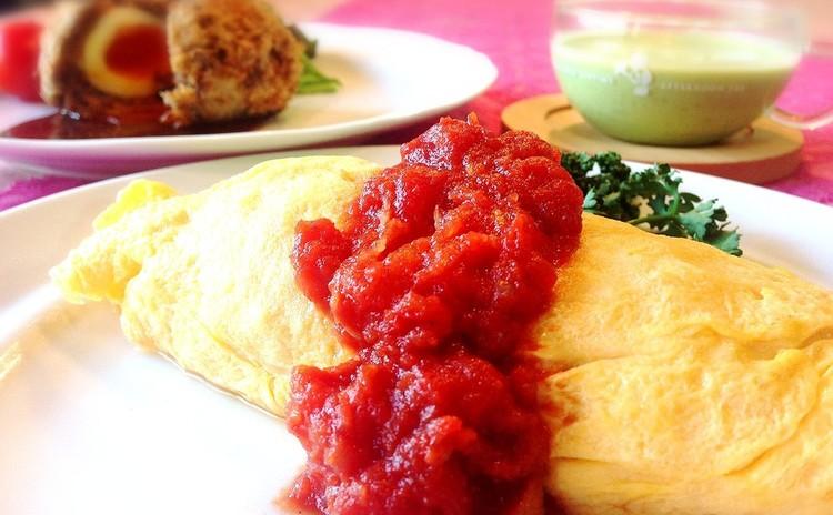 懐かしの洋食メニュー♫ 手作りケチャップ&ふわふわ卵DEオムライス