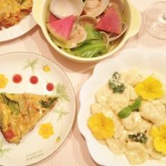 もちもちの蝶々パスタを作ろう~春野菜たっぷりのヘルシーイタリアン!