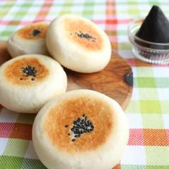 捏ね生地付き!自家製あっさりゴマあんパン&パウンドで焼く胡麻山型パン